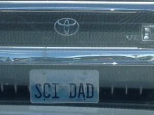 Science license plate